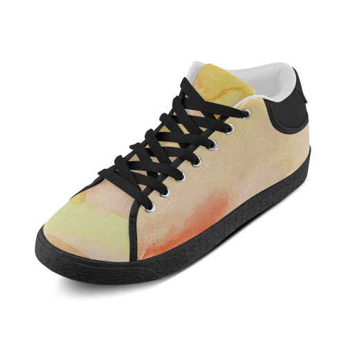 Sunburst Stained Glass Women's Chukka Canvas Shoes (Model 003)
