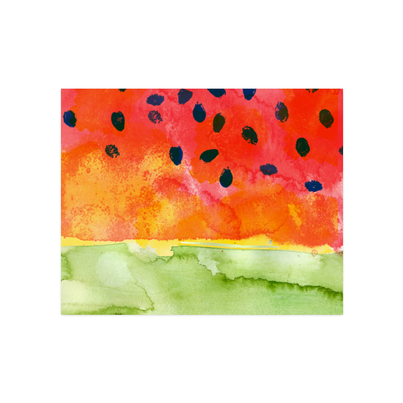 """Abstract Watermelon Poster 16""""x20"""""""