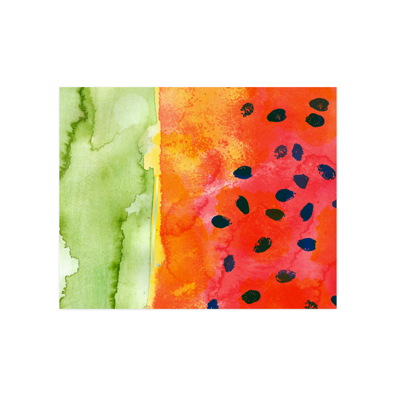 "Abstract Watermelon Poster 20""x16"""