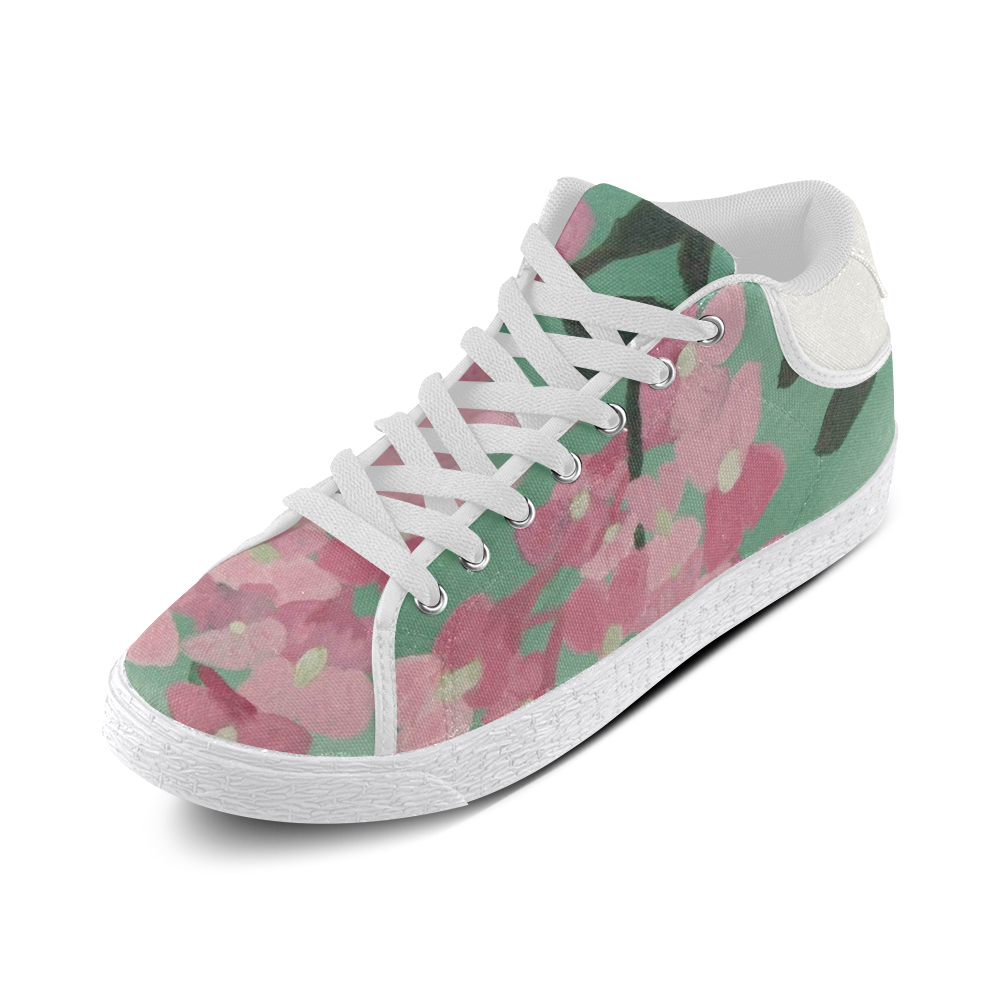 Pink Robinia Women's Chukka Canvas Shoes (Model 003)