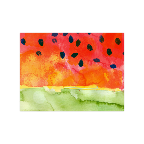 """Abstract Watermelon Poster 18""""x24"""""""