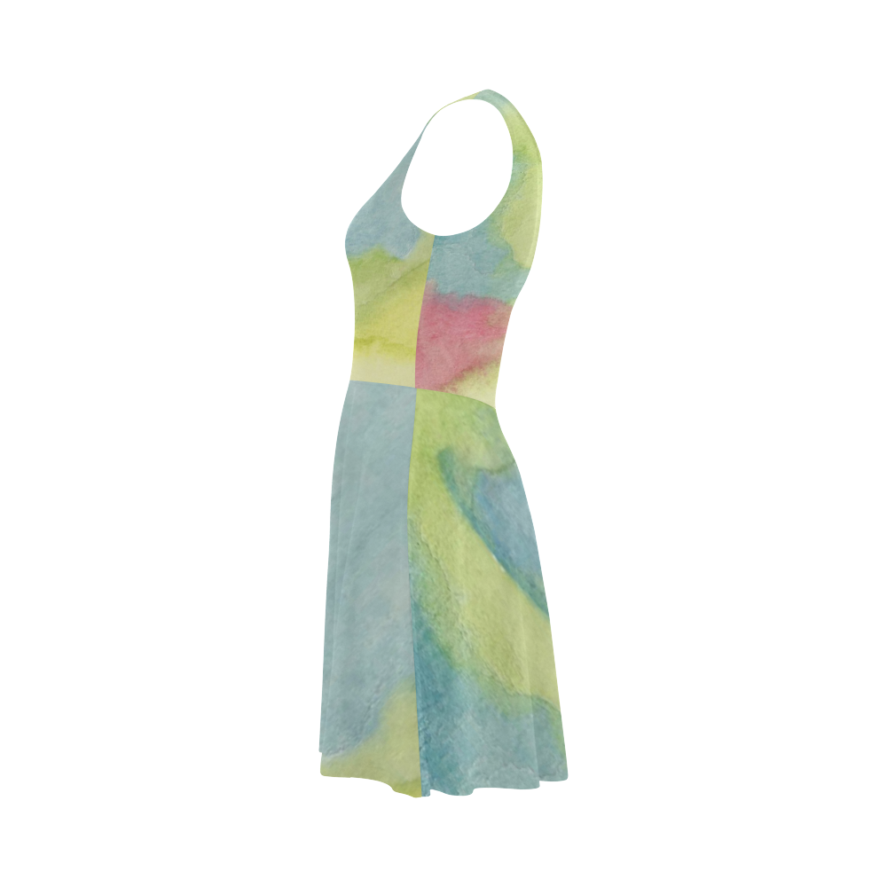Flowers in Stained Glass Atalanta Sundress (Model D04)