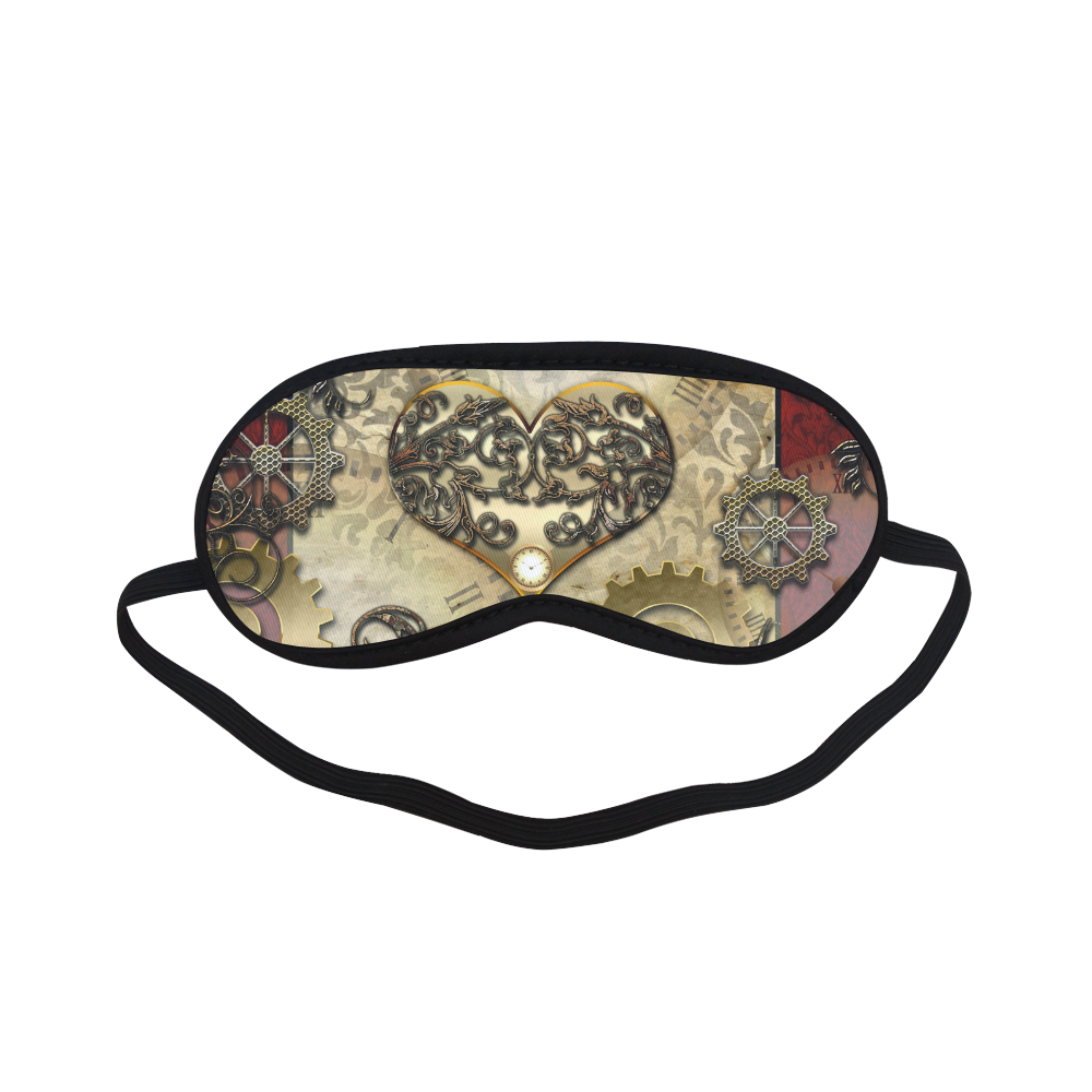 Steampunk, golden red design Sleeping Mask