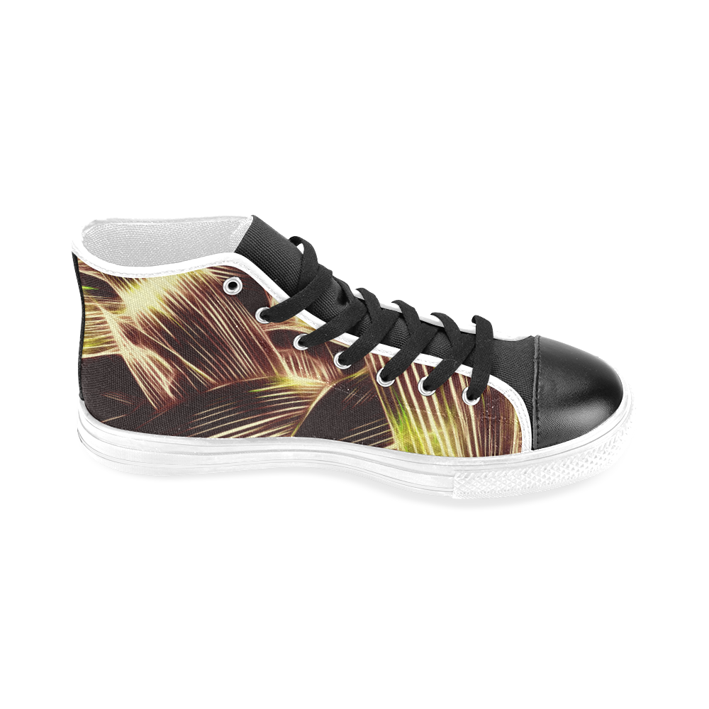 Foliage #8 - Jera Nour Men's Classic High Top Canvas Shoes (Model 017)