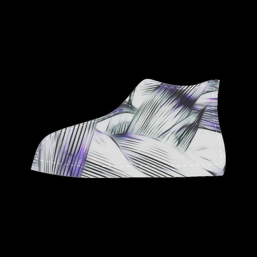 Foliage #8 - Jera Nour Men's Classic High Top Canvas Shoes (Model 017)