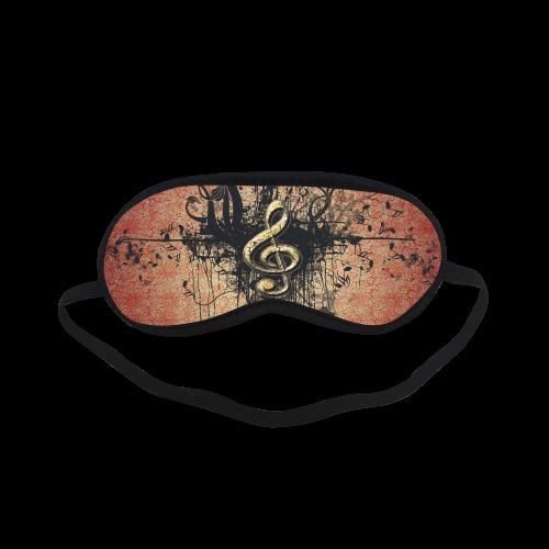 Wonderful clef with flowers Sleeping Mask