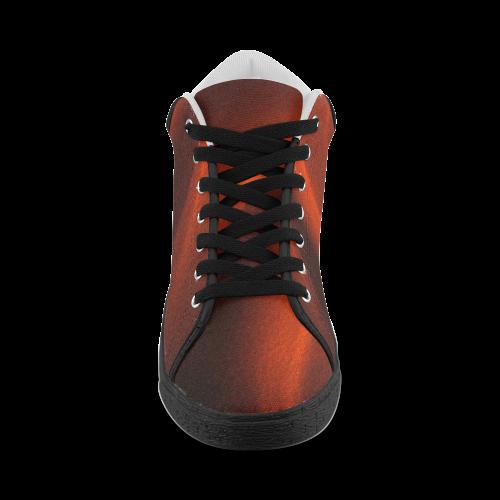 Red Chiaroscuro Men's Chukka Canvas Shoes (Model 003)