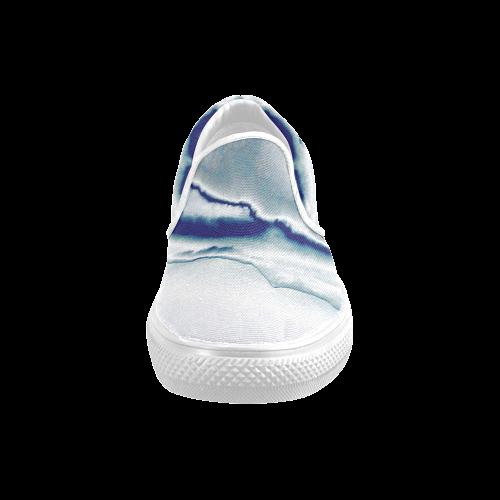 Blazing Portal - Jera Nour Men's Unusual Slip-on Canvas Shoes (Model 019)