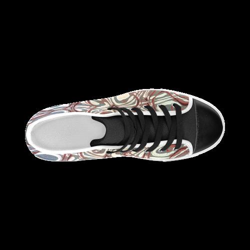 Blast-o-Blob #6 - Jera Nour Men's Classic High Top Canvas Shoes (Model 017)