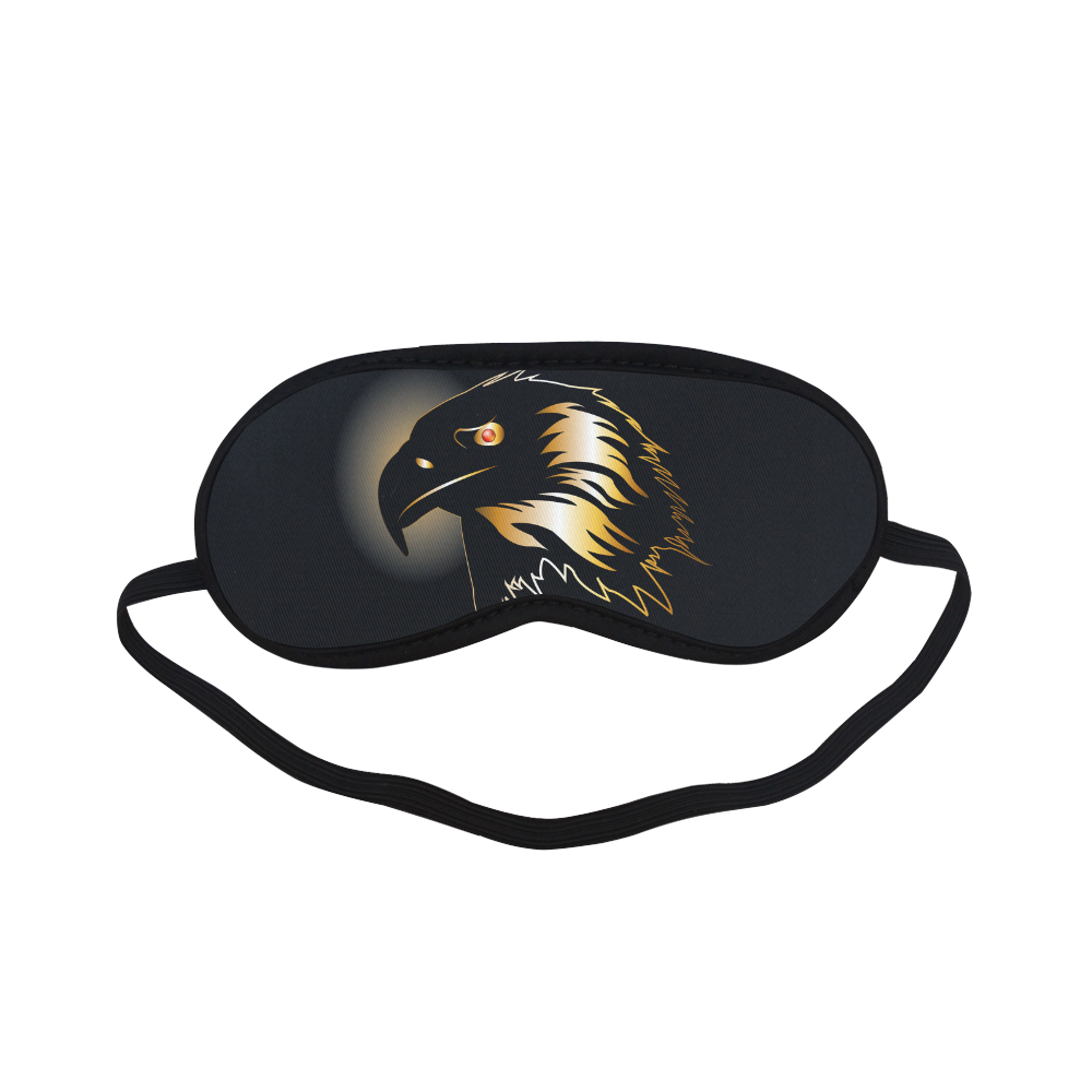 Eagle in gold and black Sleeping Mask