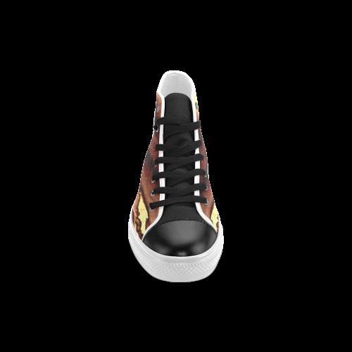 Blazing Portal - Jera Nour Men's Classic High Top Canvas Shoes (Model 017)