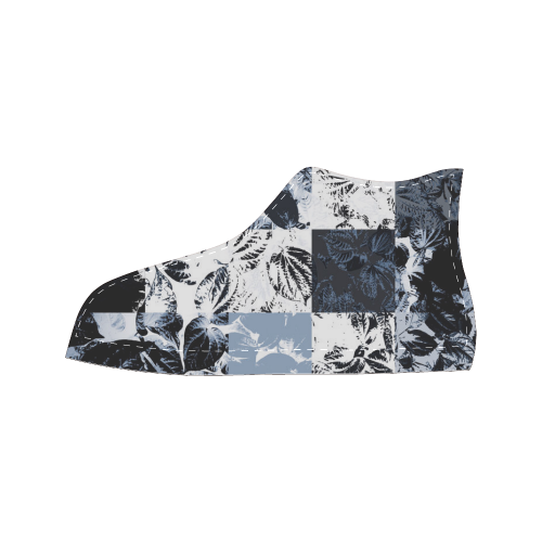 Foliage Patchwork #8 - Jera Nour Men's Classic High Top Canvas Shoes (Model 017)