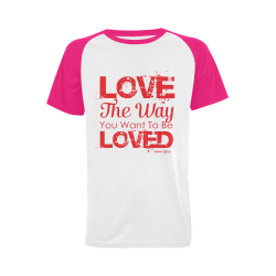Love the way you want to be loved Men's Raglan T-shirt (USA Size) (Model T11)