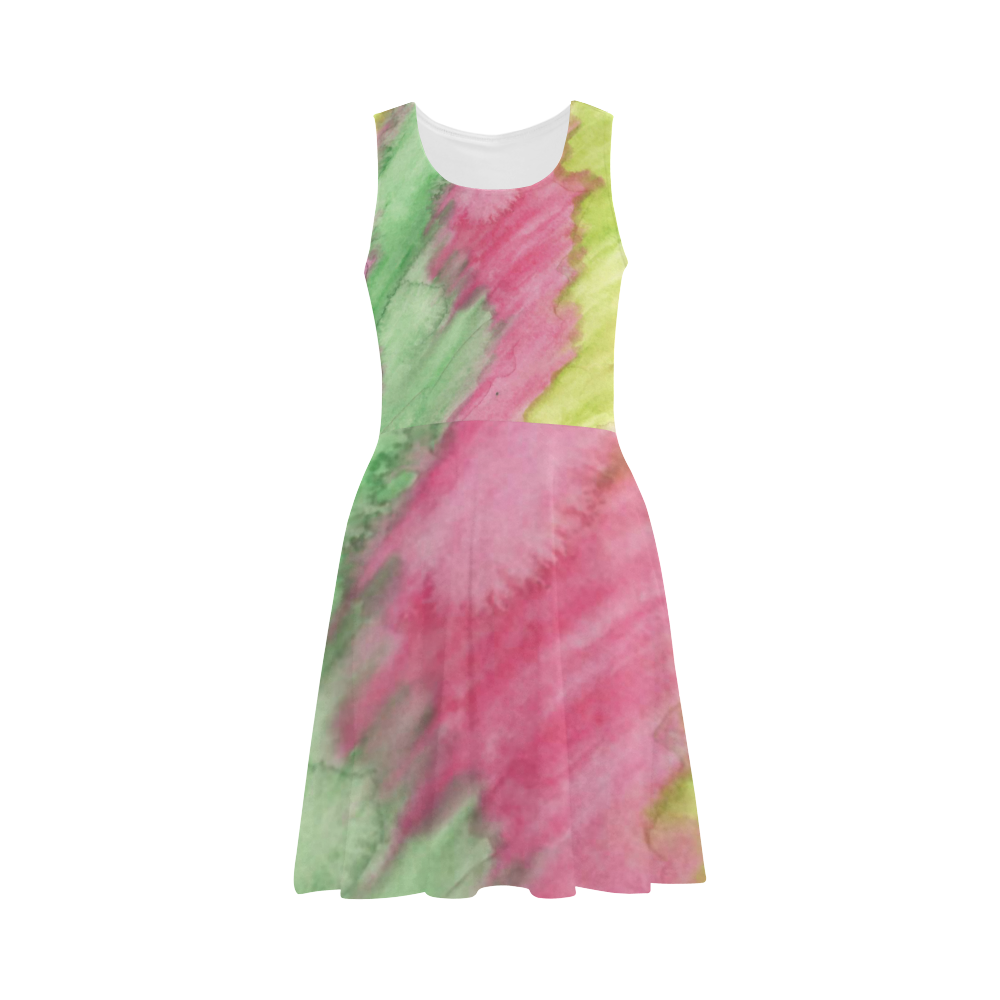 Floral Stained Glass Atalanta Sundress (Model D04)