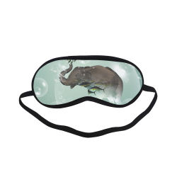 Elephant in a bubble with fish Sleeping Mask