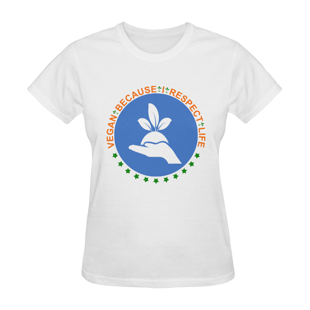 VEGAN RESPECT LIFE Sunny Women's T-shirt (Model T05)