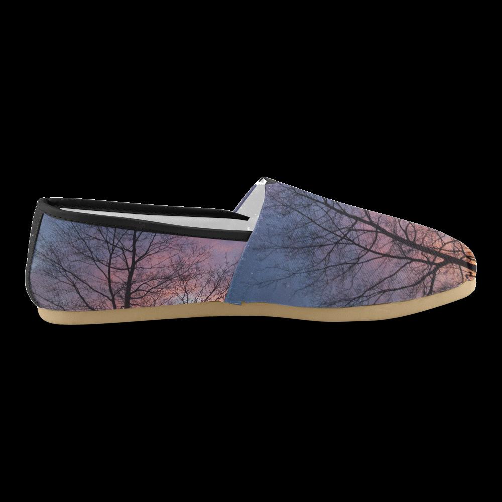 Purple Sunset Unisex Casual Shoes (Model 004)