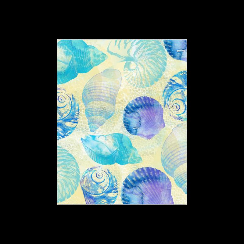 "Seashells Poster 14""x11"""