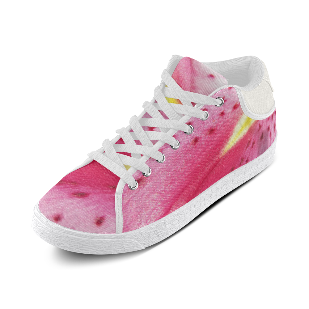 Pink Lily Freckles Women's Chukka Canvas Shoes (Model 003)
