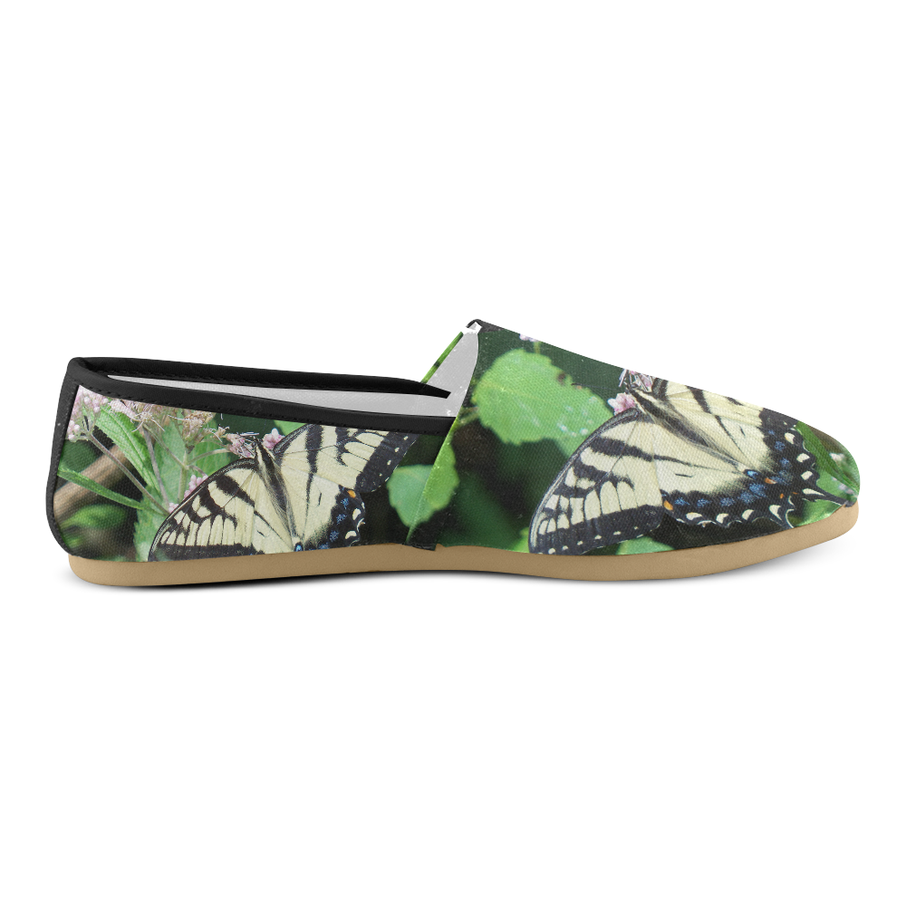 Canadian Tiger Swallowtail Butterfly Unisex Casual Shoes (Model 004)