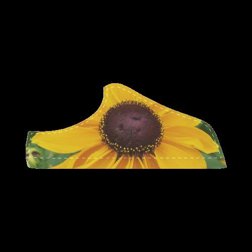Black Eyed Susan Beauty Women's Chukka Canvas Shoes (Model 003)