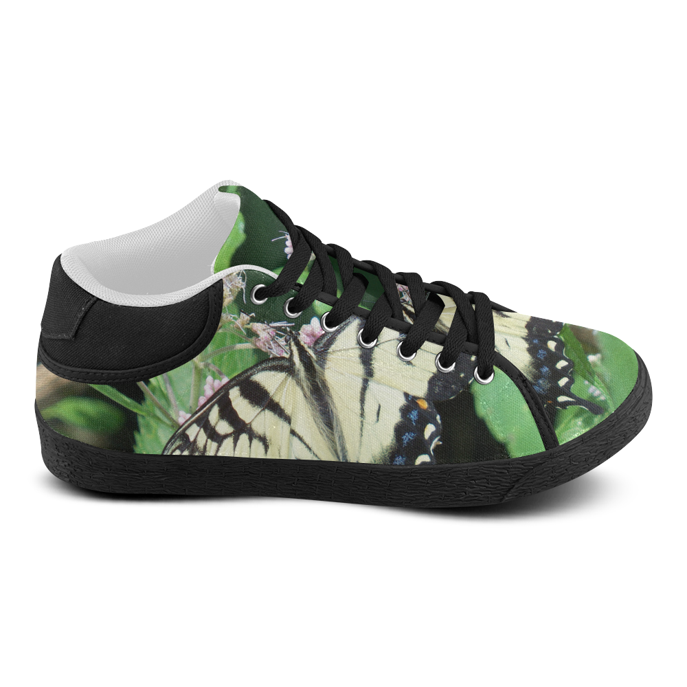 Canadian Tiger Swallowtail Butterfly Women's Chukka Canvas Shoes (Model 003)