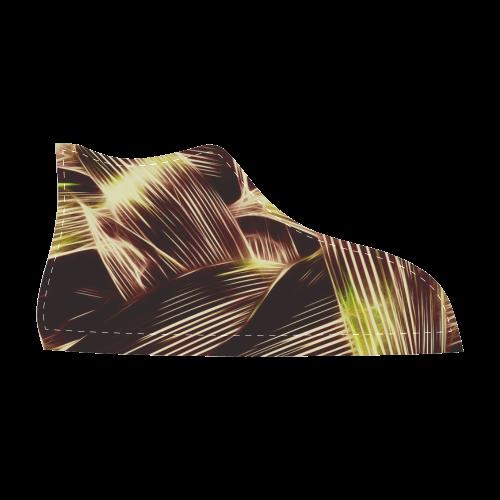 Foliage #8 - Jera Nour Men's High Top Canvas Shoes (Model 002)