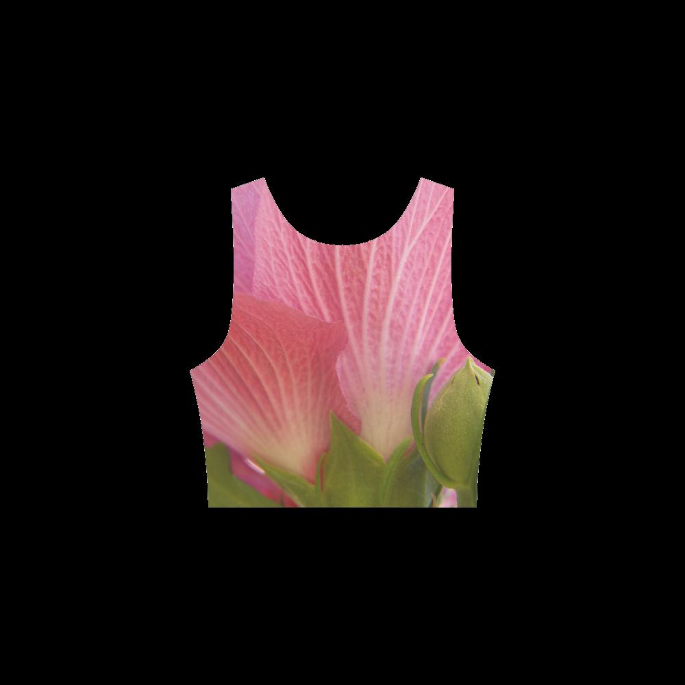 Pink Rose of Sharon Detail Atalanta Sundress (Model D04)