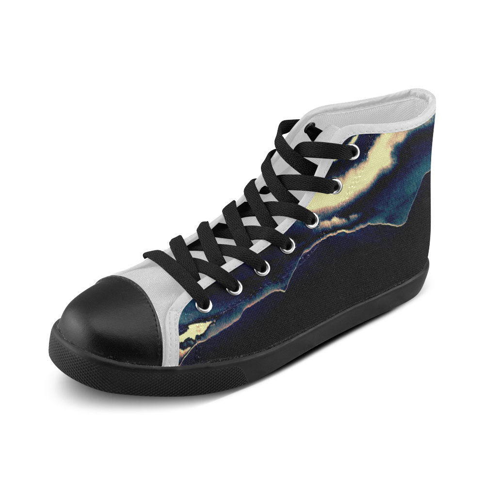 Blazing Portal - Jera Nour Men's High Top Canvas Shoes (Model 002)