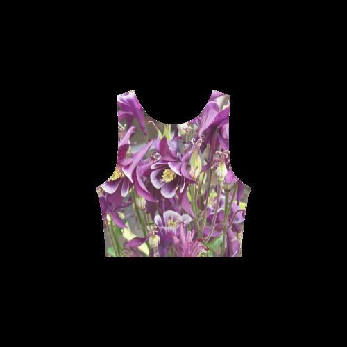 Purple and Pink Columbines Atalanta Sundress (Model D04)