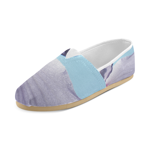 Purple, Blue, and Sunlight Unisex Casual Shoes (Model 004)