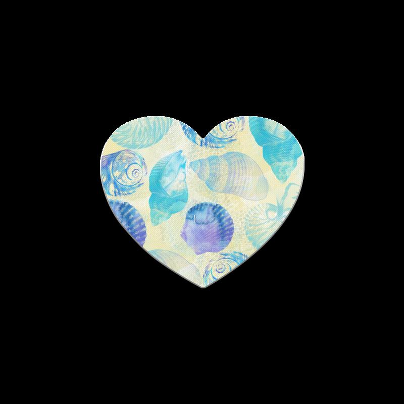 Seashells Heart Coaster