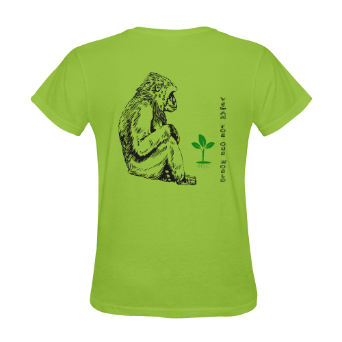 Gorilla with plants Sunny Women's T-shirt (Model T05)
