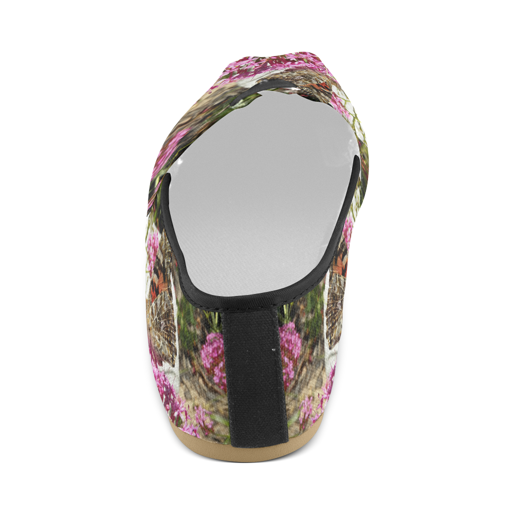 Painted Lady Butterfly Unisex Casual Shoes (Model 004)