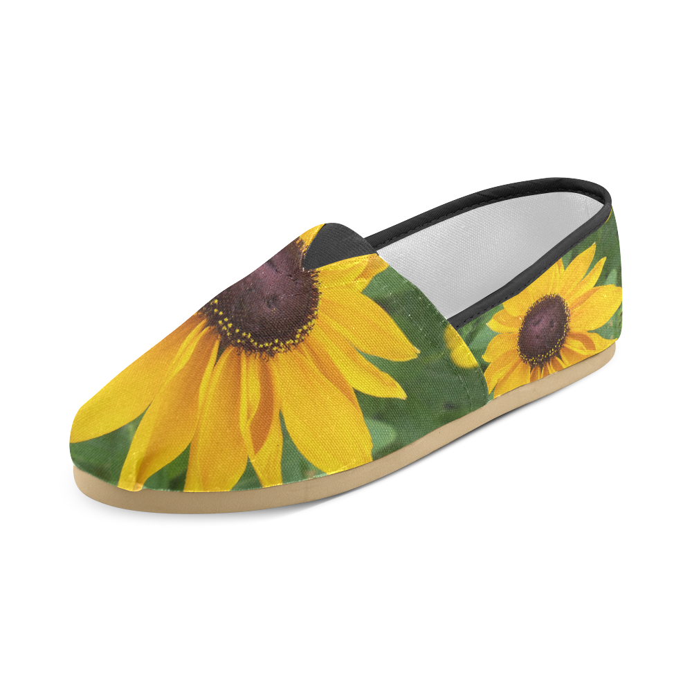 Black Eyed Susan Beauty Unisex Casual Shoes (Model 004)