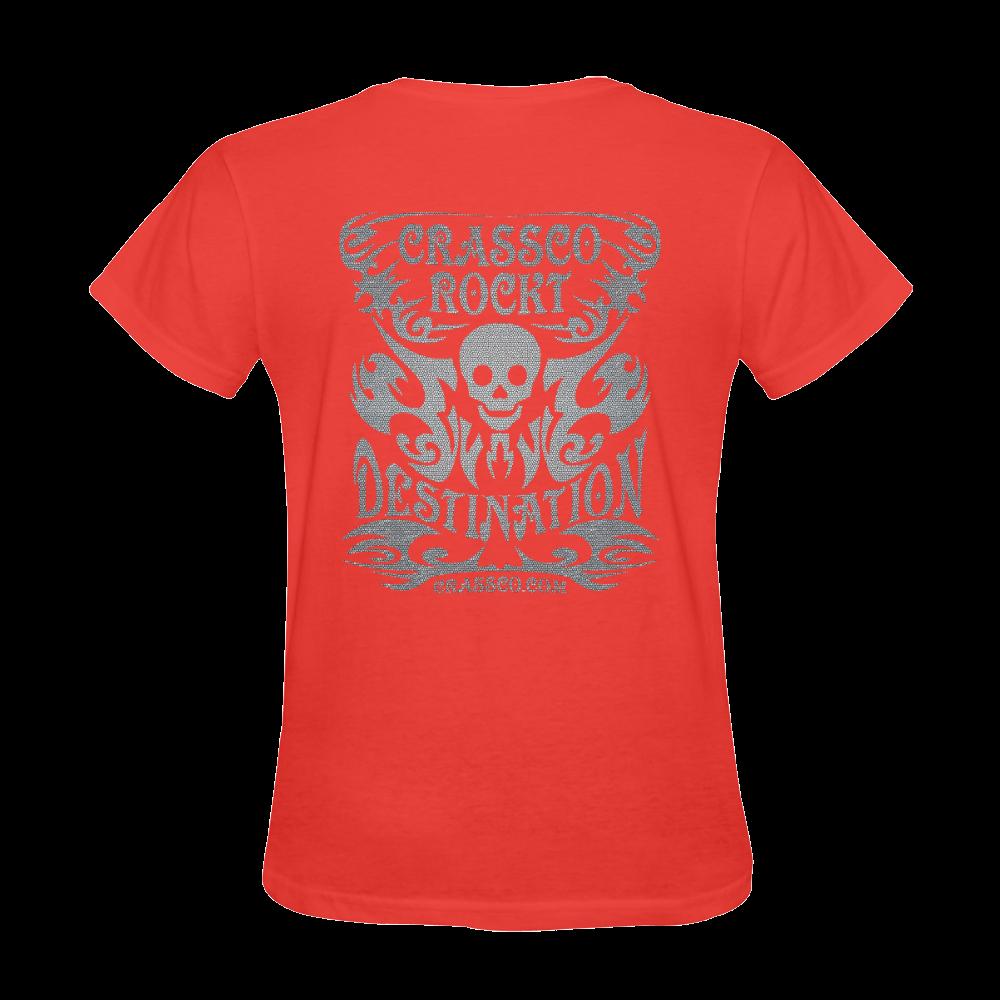 SKULL SILVER OPTICS Sunny Women's T-shirt (Model T05)