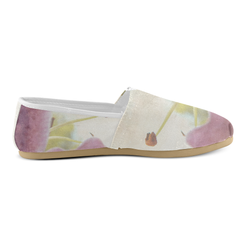 Artistic Pink Lily Unisex Casual Shoes (Model 004)