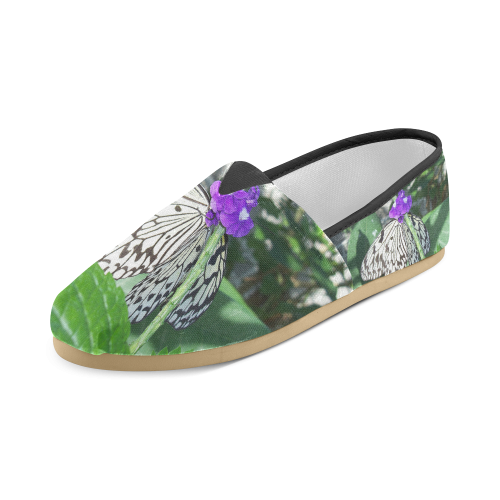 Rice Paper Butterfly Unisex Casual Shoes (Model 004)