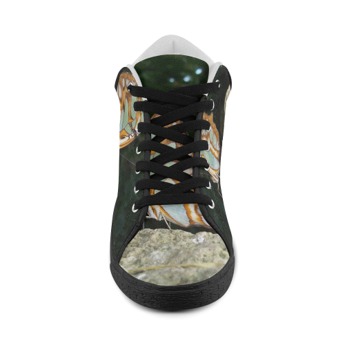 Tailed Jay Butterfly Women's Chukka Canvas Shoes (Model 003)