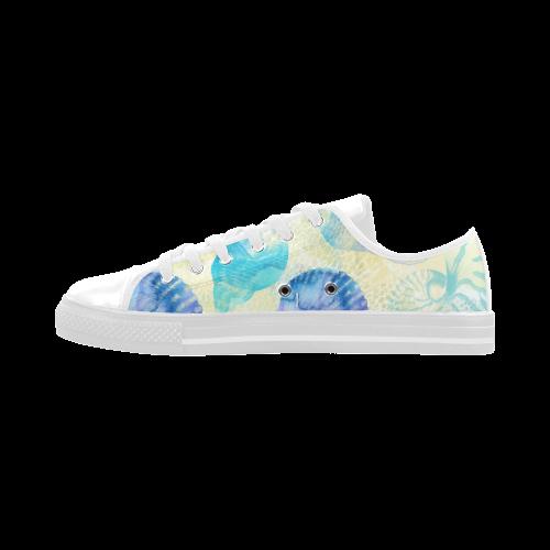 Seashells Aquila Microfiber Leather Women's Shoes (Model 028)