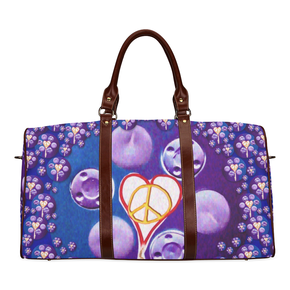 The Key to love is peace and love popart Waterproof Travel Bag/Large (Model 1639)