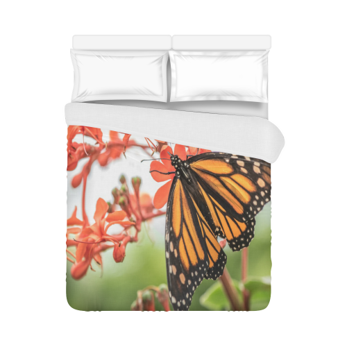 """Monarch Butterfly Dreams Duvet Cover 86""""x70"""" ( All-over-print)"""