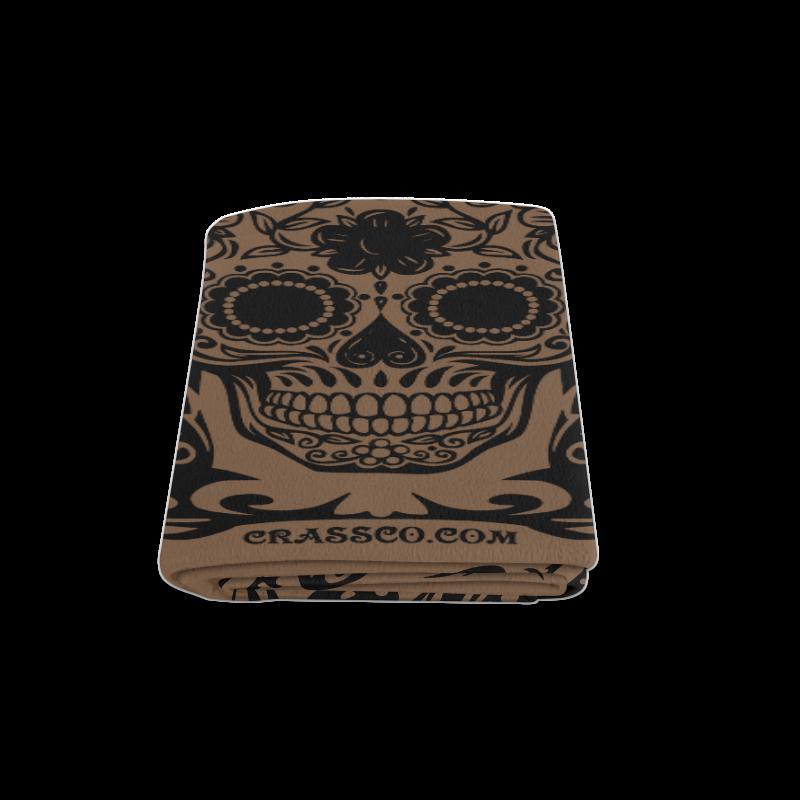 "SKULL BROWN Blanket 58""x80"""