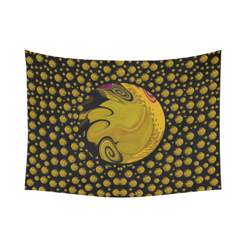 """Silent galaxy and space filled of planets Cotton Linen Wall Tapestry 80""""x 60"""""""