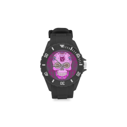 SKULL PINKY Sport Rubber Strap Watch(Model 301)