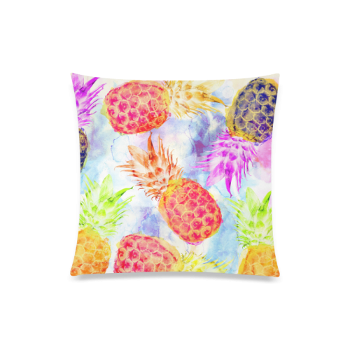 """Pineapples Custom Zippered Pillow Case 20""""x20""""(Twin Sides)"""