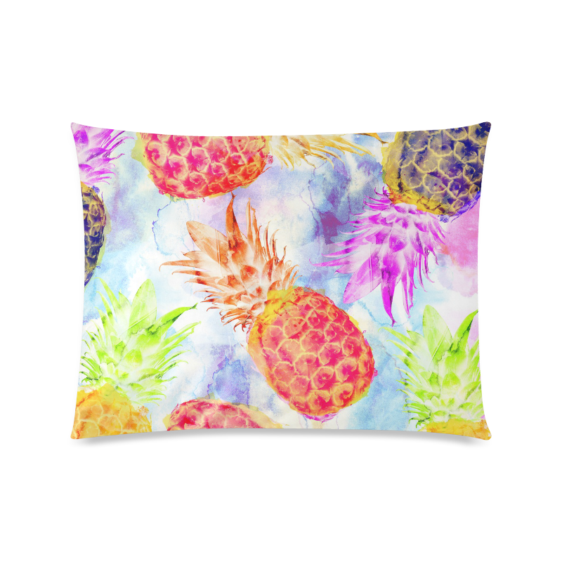 """Pineapples Custom Zippered Pillow Case 20""""x26""""(Twin Sides)"""