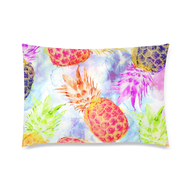 """Pineapples Custom Zippered Pillow Case 20""""x30""""(Twin Sides)"""