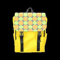 Green and Orange Geometric Pattern Casual Shoulders Backpack (Model 1623)