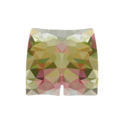 Low Poly Pastel Flowers Briseis Skinny Shorts (Model L04)